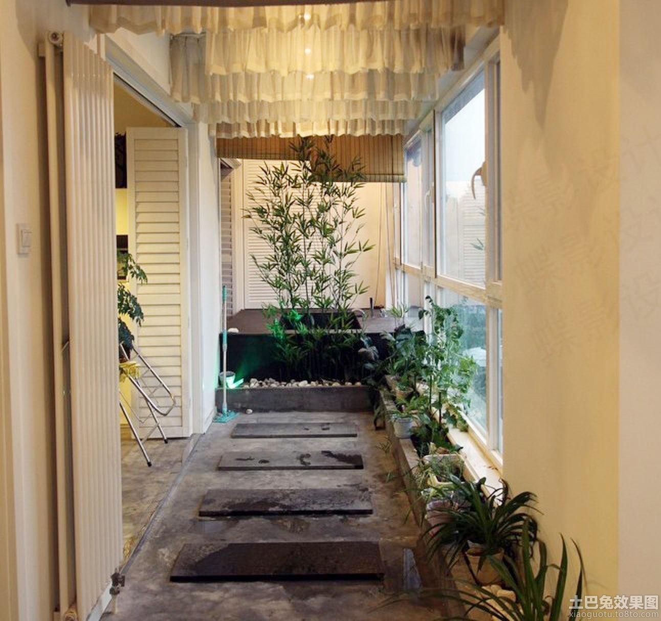 美式乡村风格家居阳台装修效果图