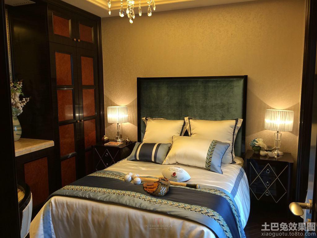 后现代风格三室两厅卧室设计效果图 - 九正家居装修图片