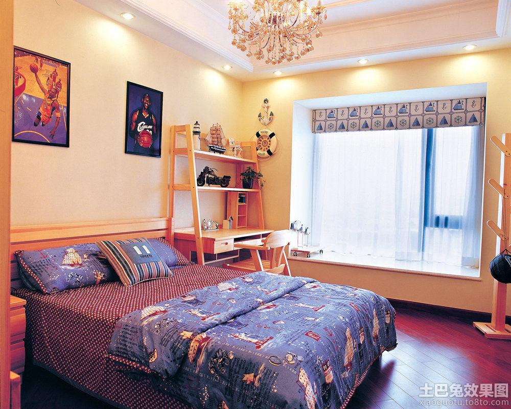 儿童卧室装修飘窗设计图片