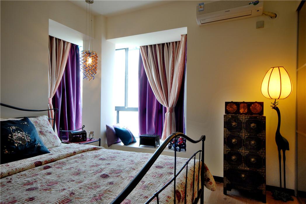 中式家居卧室飘窗装修图片图片