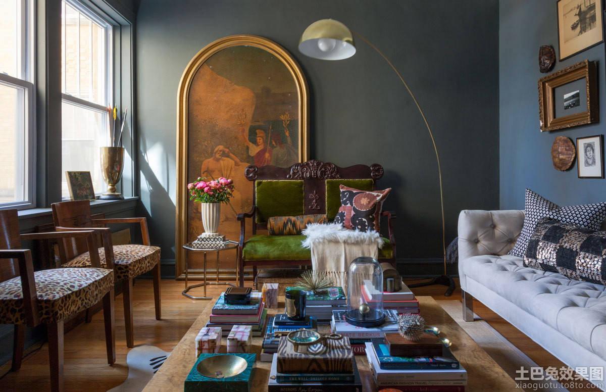 哥特式风格两室两厅装修客厅效果图片图片