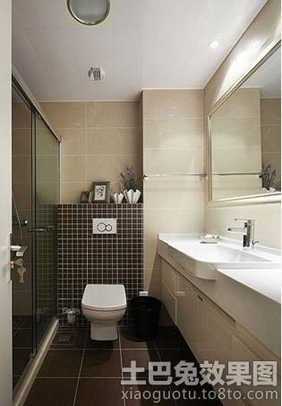 简约风格下沉式卫生间设计图