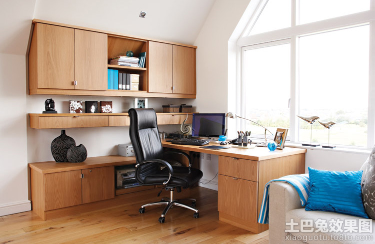 家庭书柜电脑桌设计图 - 装修效果图 - 九正家居网