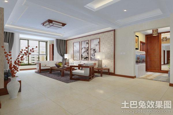 中式客厅吊顶装修效果图2014图片
