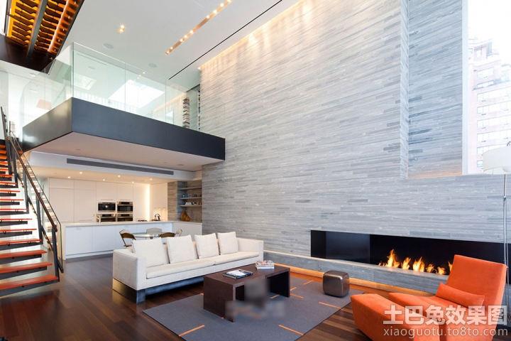 复式楼挑高客厅装修图片欣赏 - 九正家居装修效果图