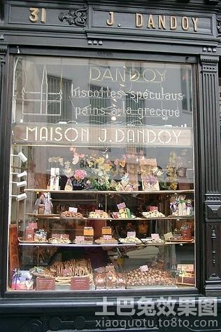欧式街边蛋糕店装修图片