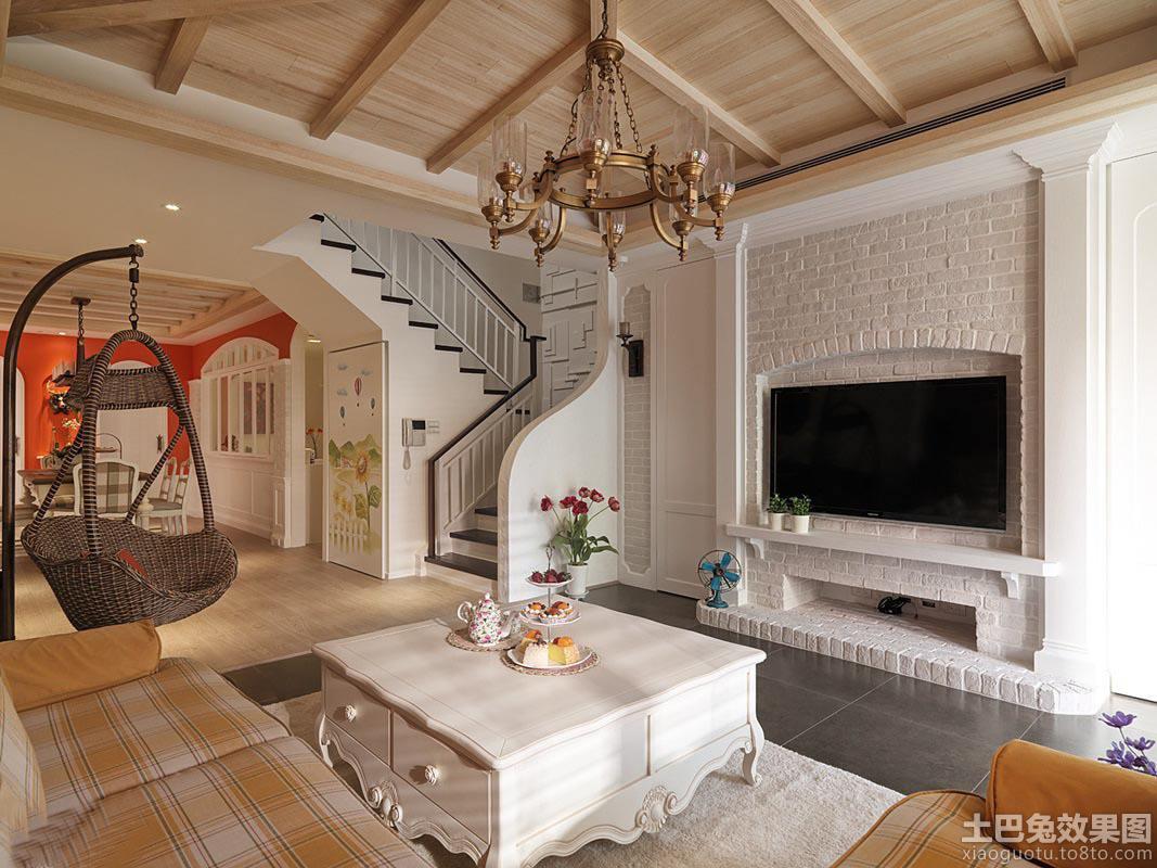 简欧风格客厅电视背景墙设计图片