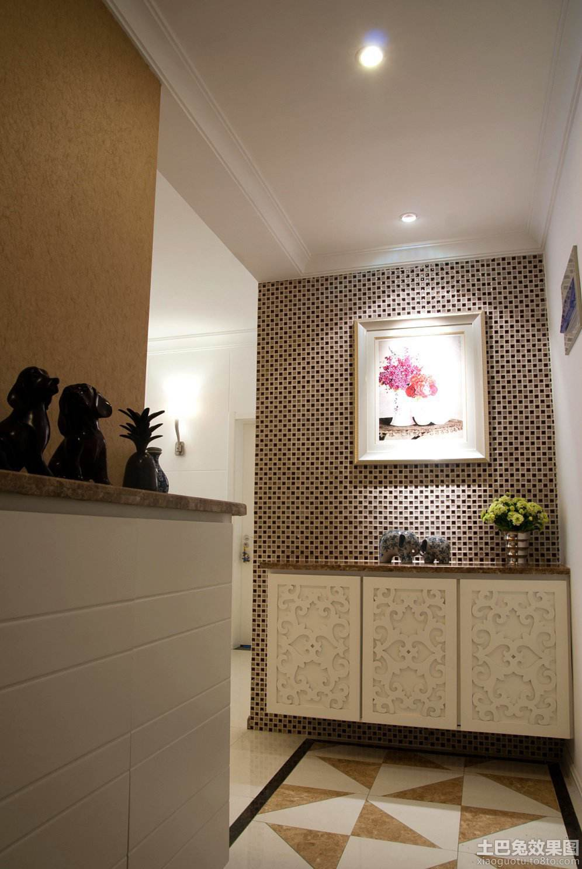 中式入户玄关房屋装修样板房高清图片