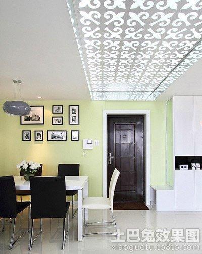 现代玄关吊顶造型装修效果图高清图片