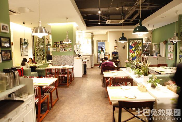 田园茶餐厅内部装修效果图