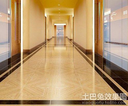 走道木纹地板砖效果图