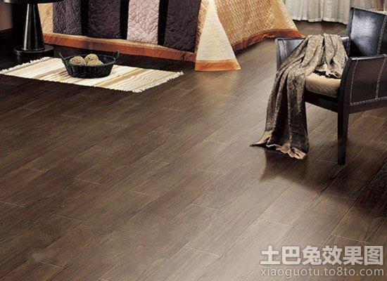 美式风格卧室木纹地板砖效果图
