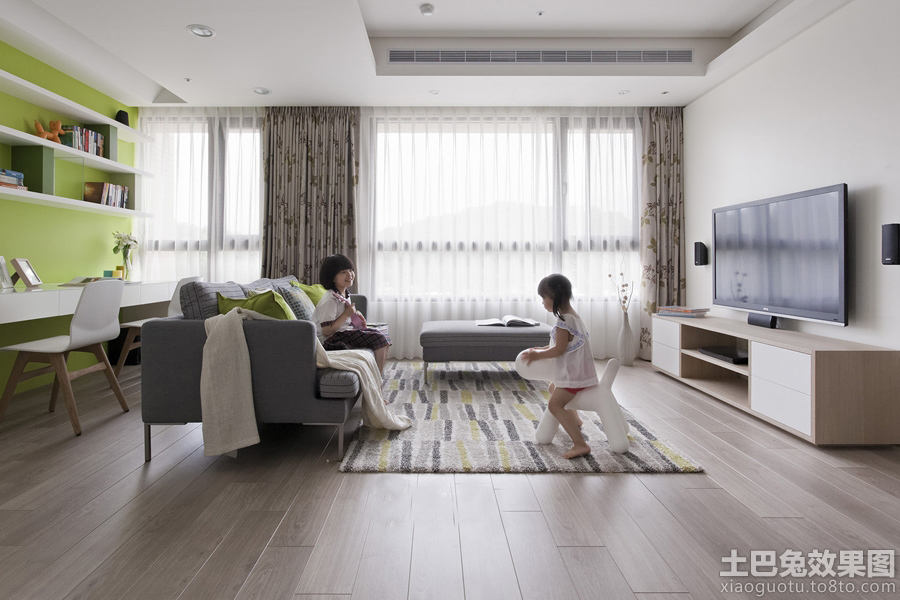 120平米北欧风格两室两厅装修效果图大全