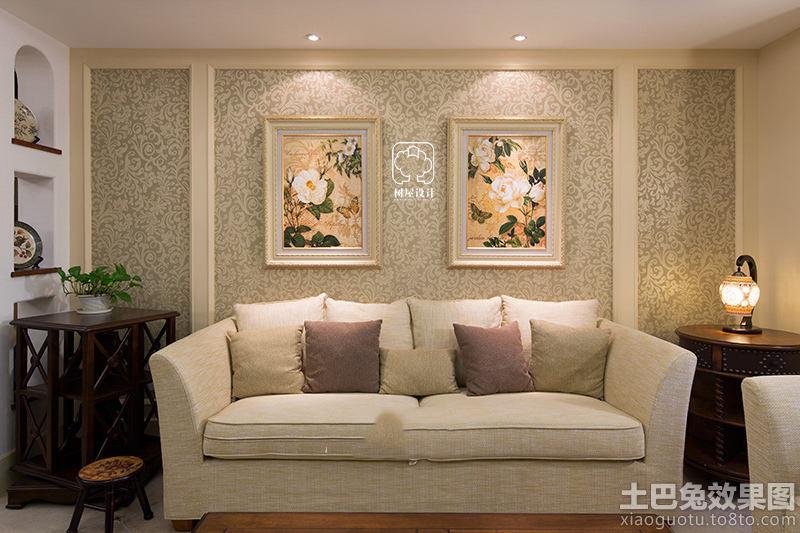 美式风格沙发背景墙设计图片图片