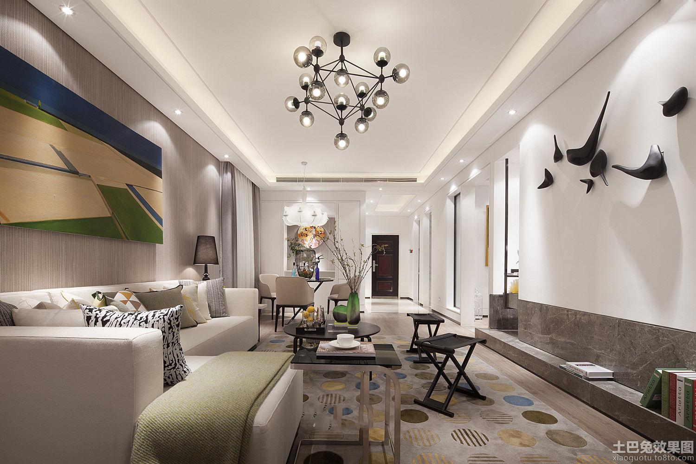 宜家风格装修房屋客厅图片欣赏