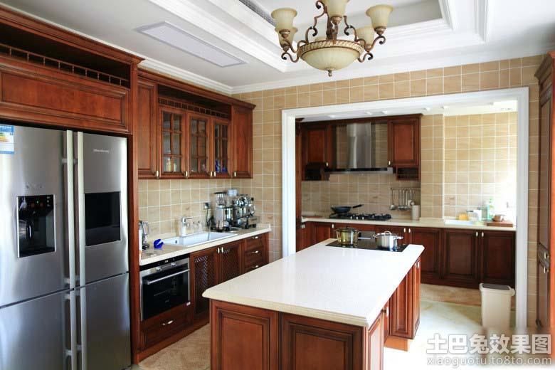 家居厨房实木装修效果图图片