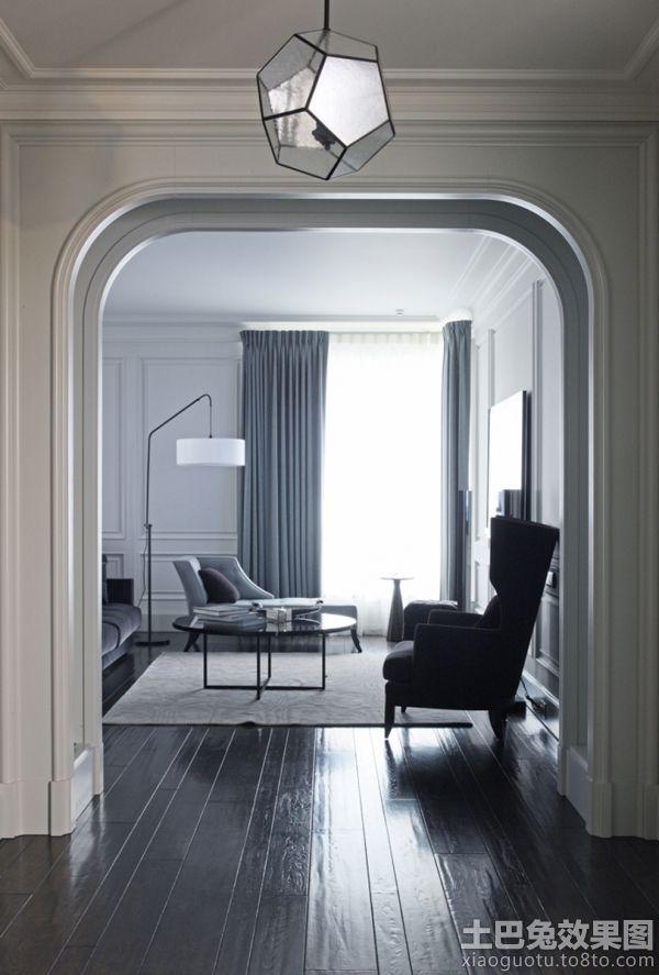 日式风格室内装修半圆门图片欣赏