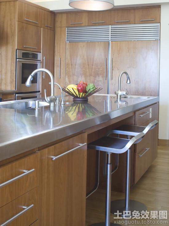 美式厨房不锈钢台面图片高清图片