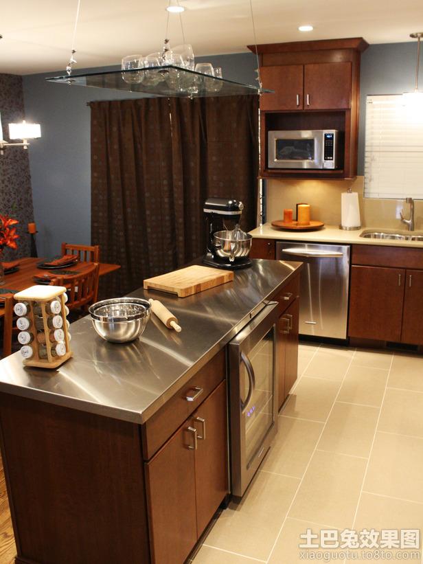 新中式厨房不锈钢台面效果图高清图片