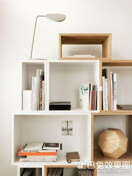 墙上自制简易书架图片