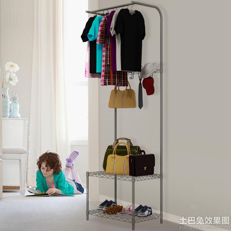 卧室鞋柜衣帽架图片