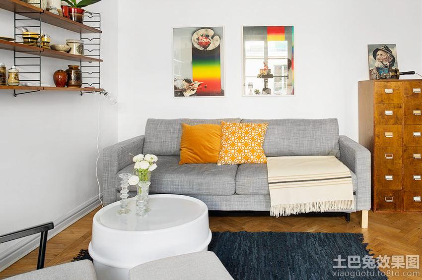 简欧风格色彩客厅装修效果图