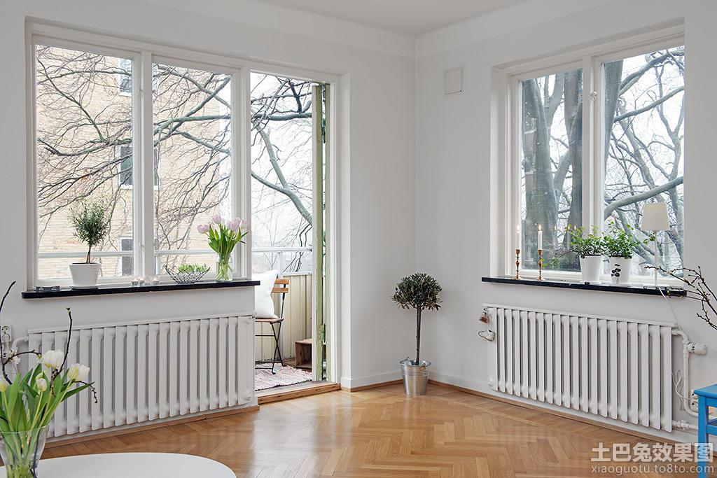 北欧室内卧房窗户效果图