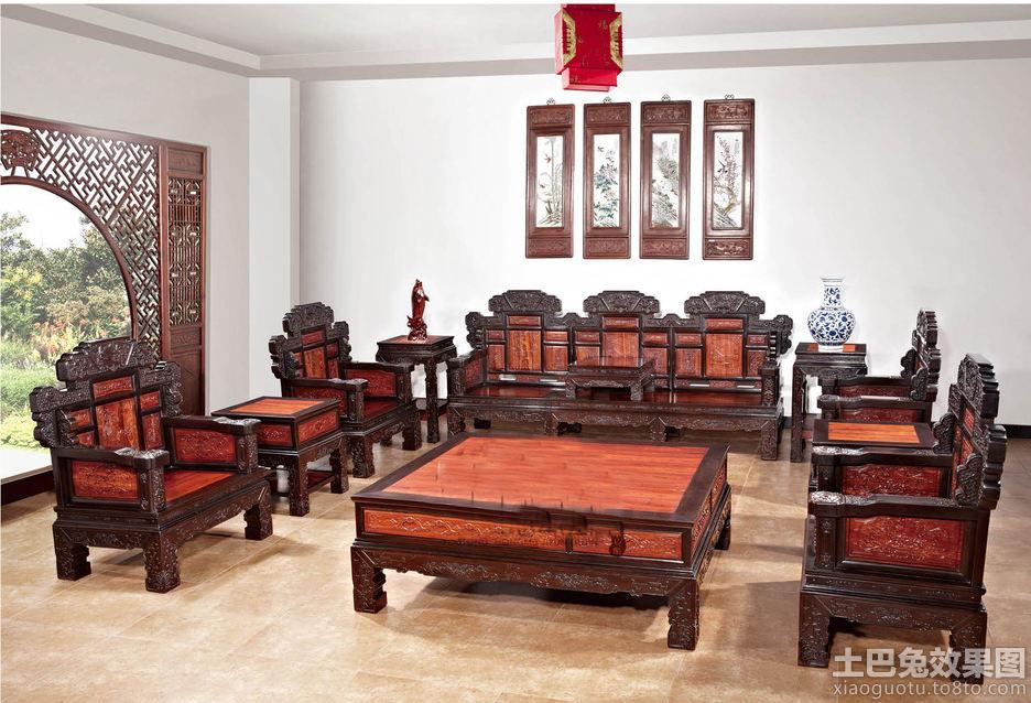 新中式红木沙发图片