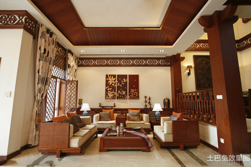 新中式沙发装修效果图片