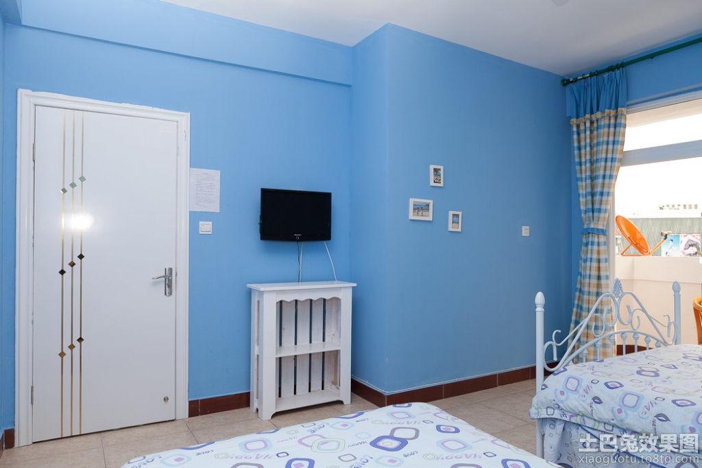 地中海设计卧室电视背景墙图片