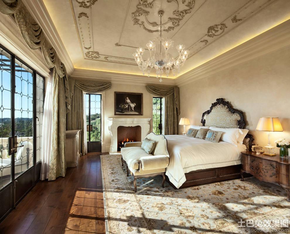 欧式豪华卧室设计效果图大全图片