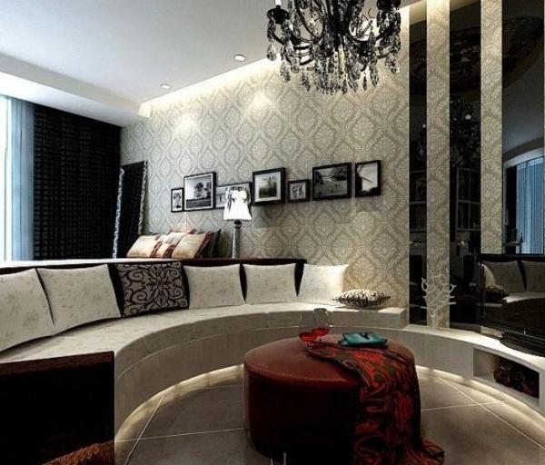 半圆形设计客厅装修图片图片