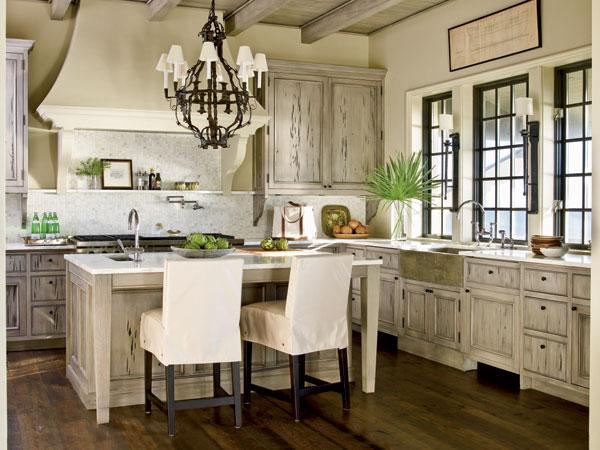 美式经典厨房吧台装修效果图