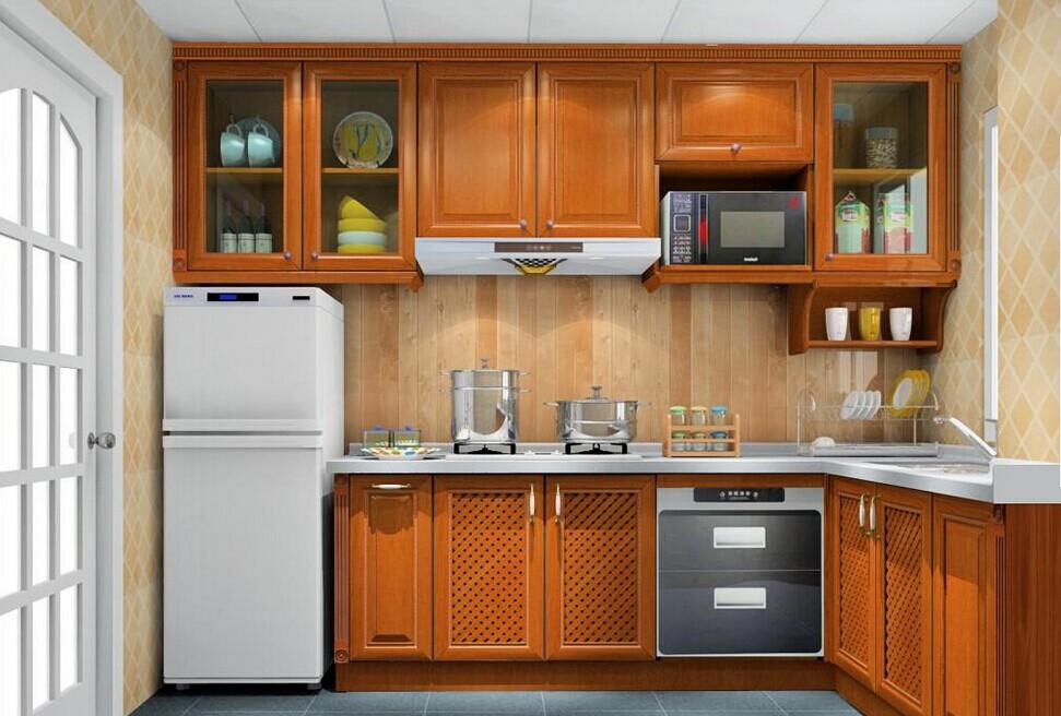 新中式廚房櫥柜設計圖