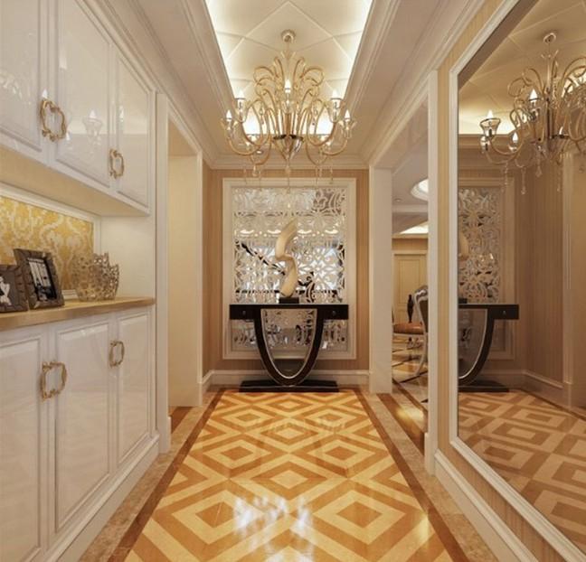 图片走廊进门玄关吊顶玄关装修设计图-九正家居漆上实木家具怎么图片