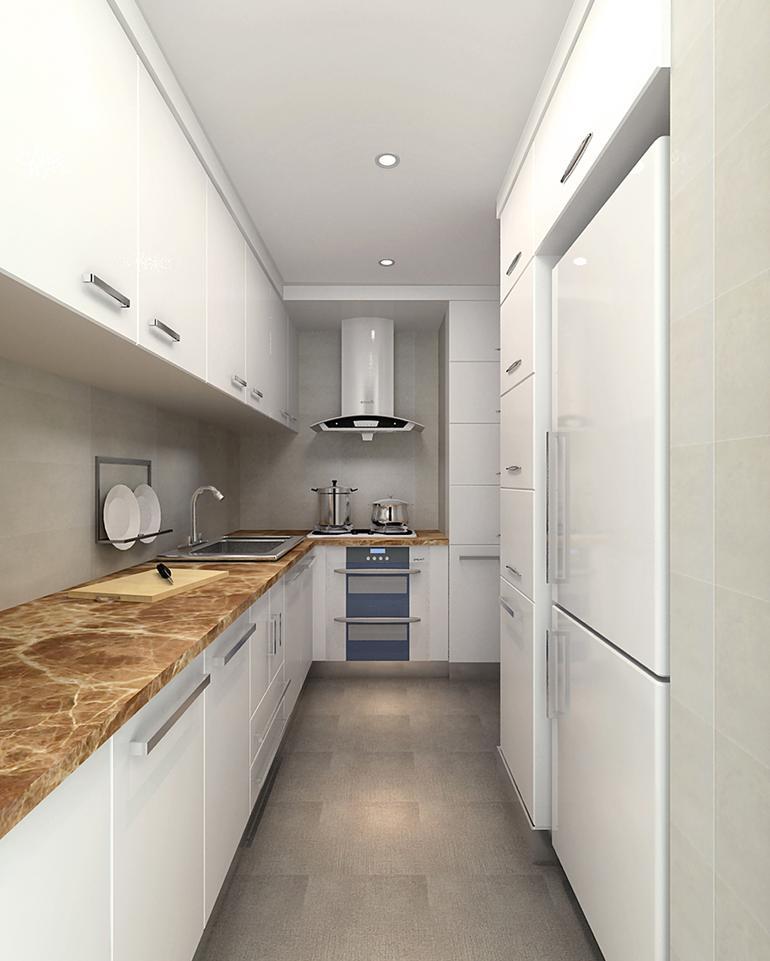 二居室厨房灯具装修效果图欣赏