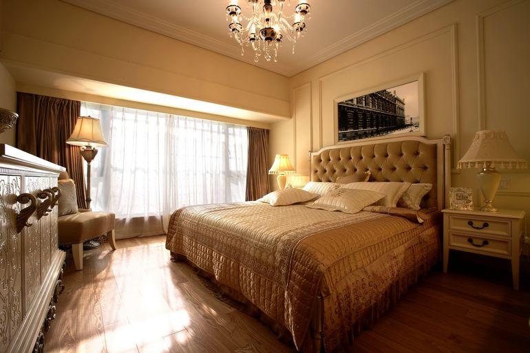 简欧风格卧室背景墙效果图图片
