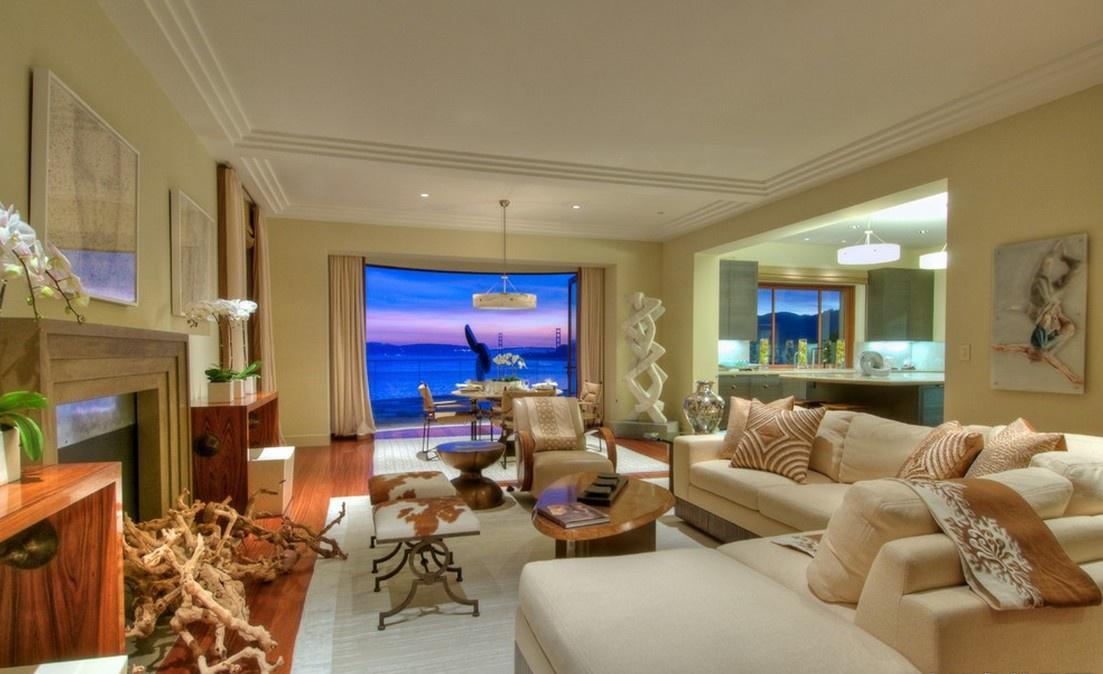 海景别墅图片大全 海景房客厅装修效果图大全2012图片