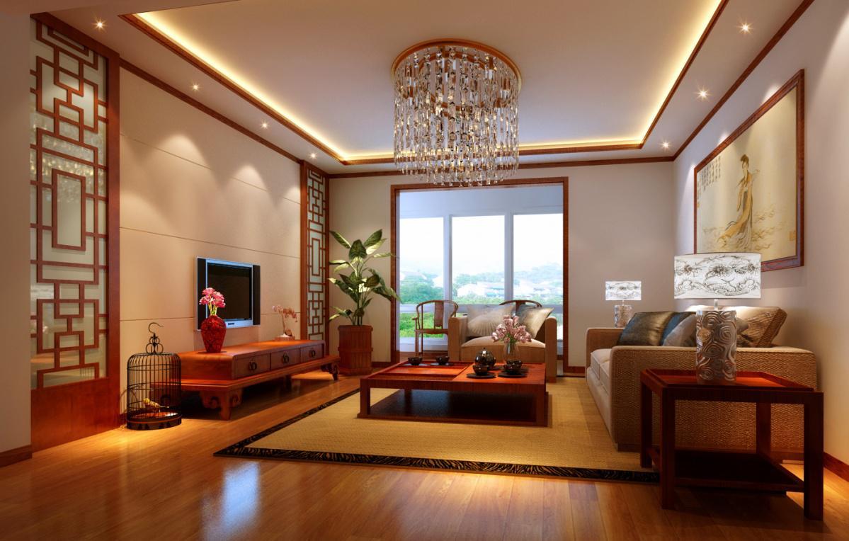 家庭中式客廳裝修-西格瑪裝飾