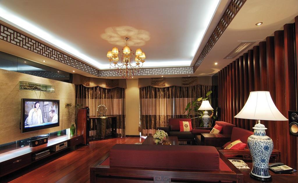 新中式客厅装饰吊顶 - 九正家居装修效果图图片