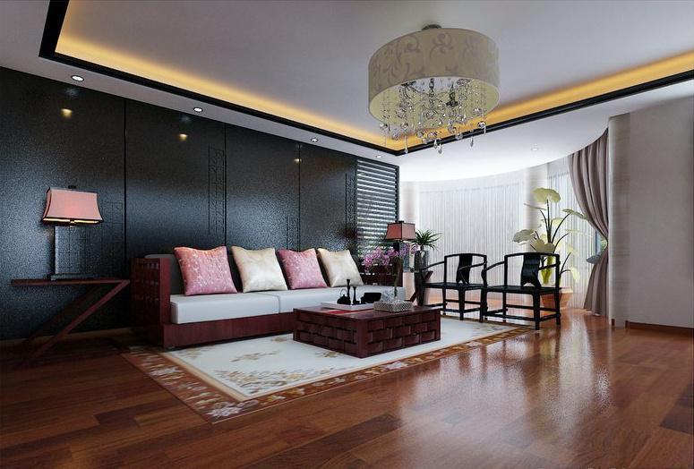 新中式客厅吊顶装修效果图大全2013图片欣赏