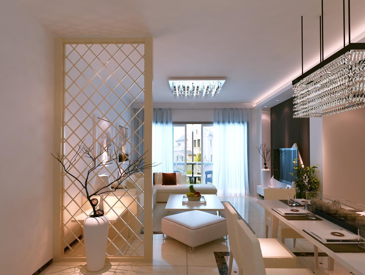 最新现代客厅隔断装修效果图图片