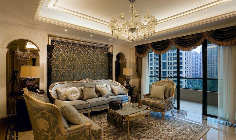 欧式客厅带阳台装饰设计图