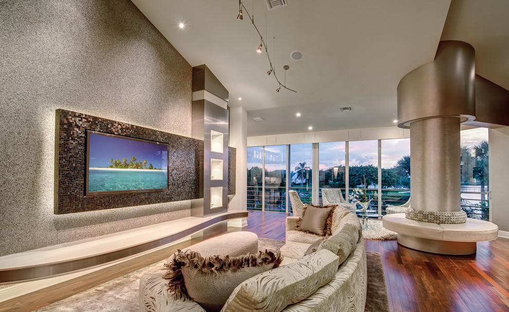 欧式家装客厅电视背景墙