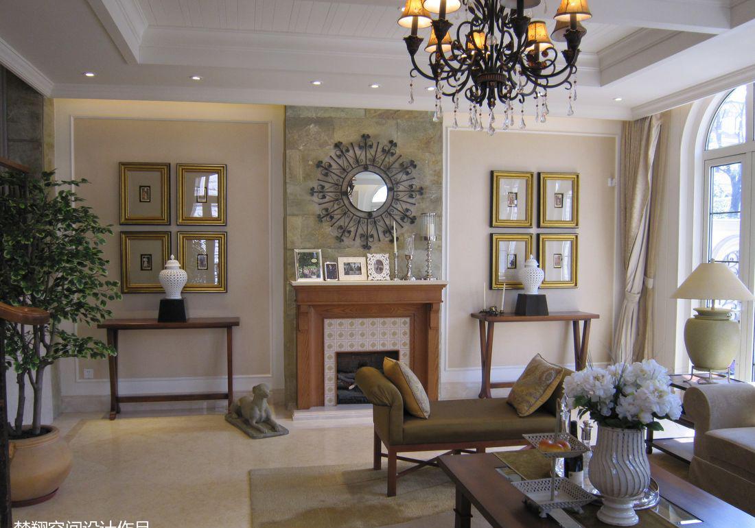 欧式客厅壁炉装修效果图欣赏图片