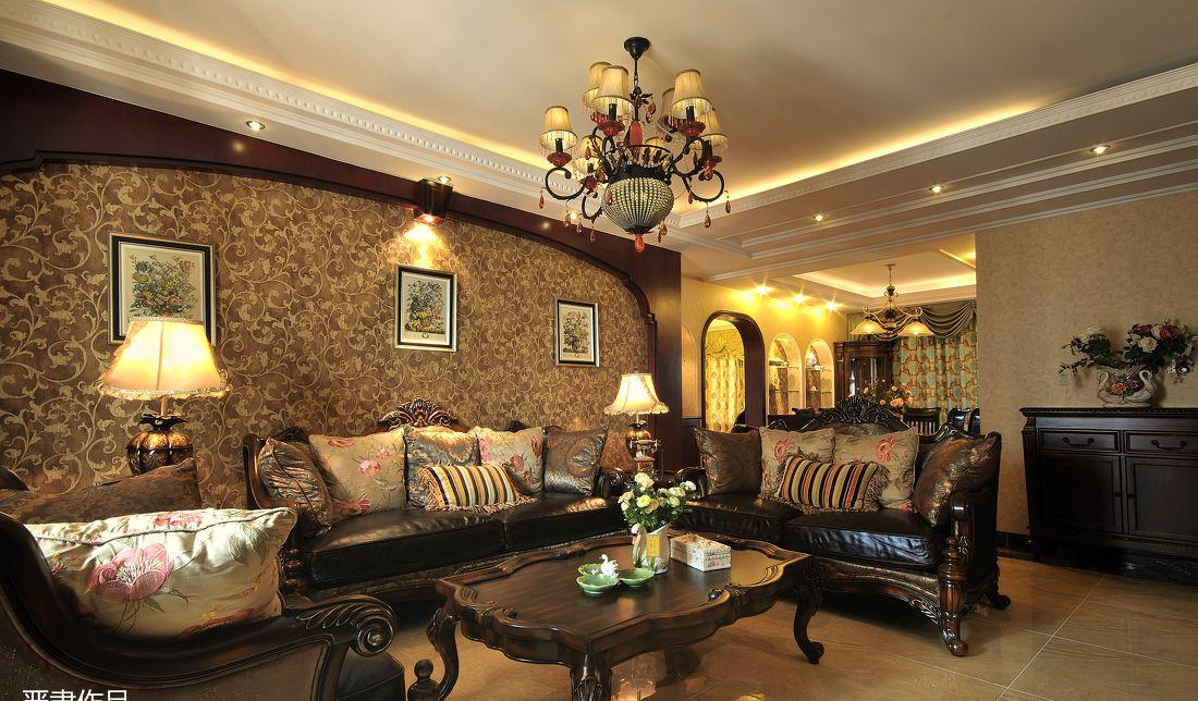 美式家装客厅吊顶效果图图片