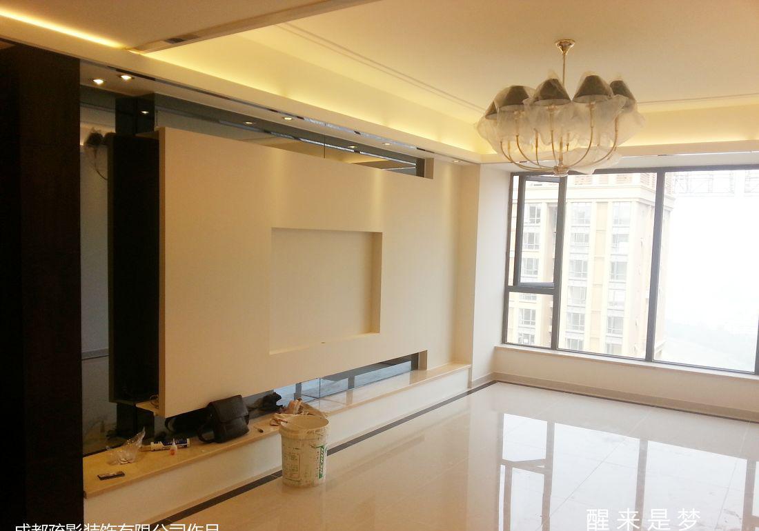 客厅石膏板电视背景墙装修效果图