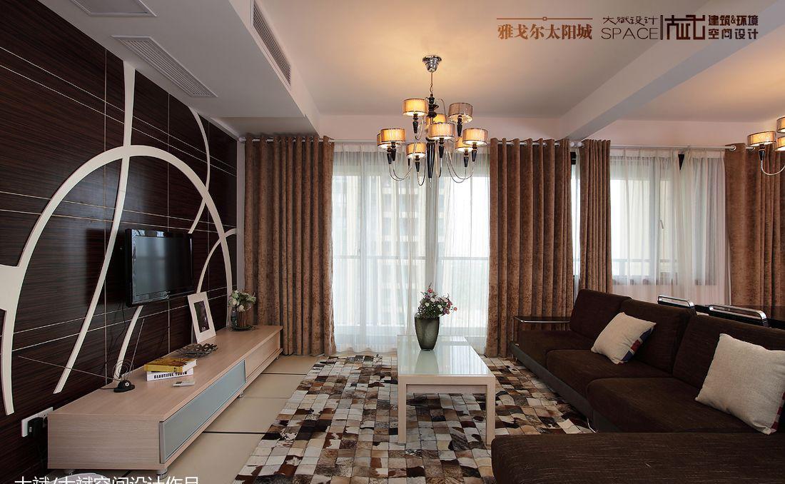 客厅木质电视背景墙效果图大全2013