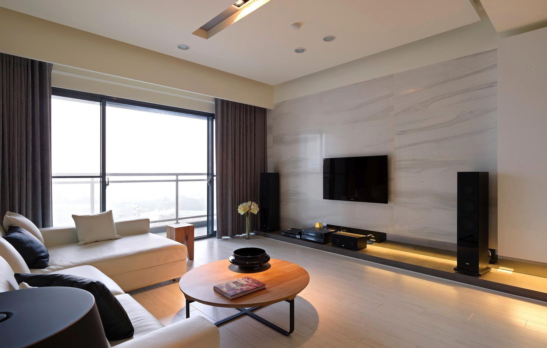 家装客厅瓷砖电视机背景墙效果图