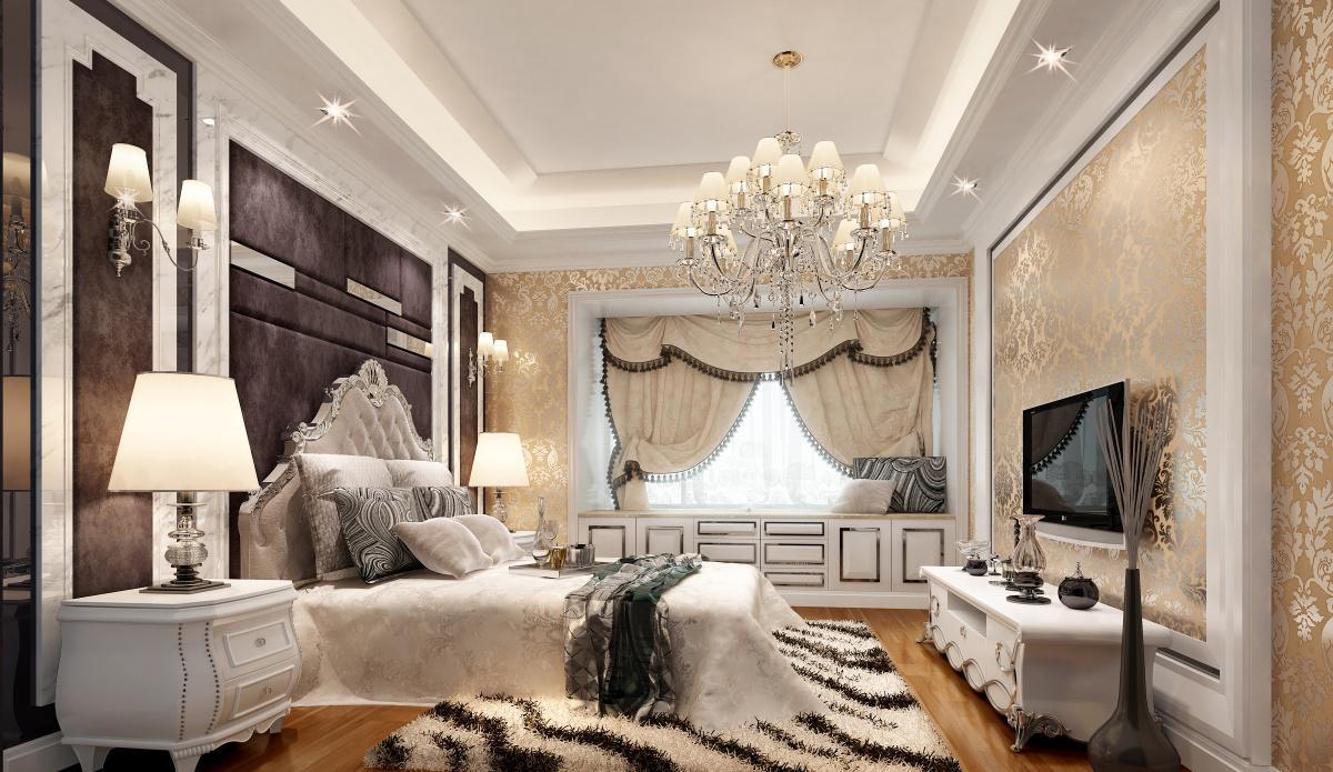 2013最新欧式风格主卧室吊顶装修效果图欣赏图片